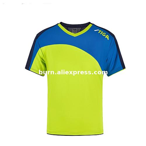 2020 New Original  Stiga Unisex table tennis T shirt table tennis champion shirt fast dry sports short sleeve  shirt