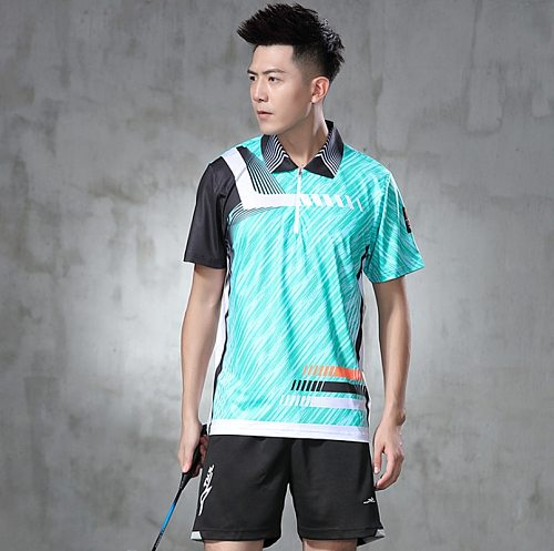 Table Tennis Clothes Badminton Shirt Quick Dry Breathable Sport Shirts for Men Tennis T Shirt for Training Ping Pong Clothes
