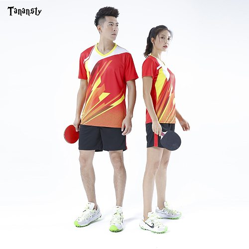 Top Table Tennis jersey Badminton set sportswear shirt with shorts Men Ladies pingpong Clothes Shirt Team Run Training Quick Dry