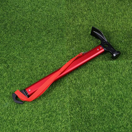 Multifunction Camping Mallet Hammer for Tent Pegs (Red)