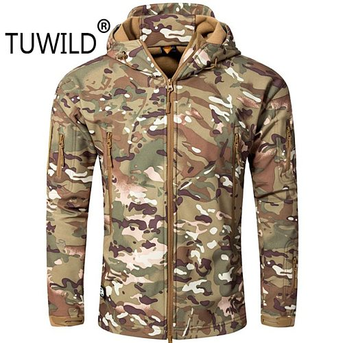 Men and women tad5.0 tactical soft shell waterproof shark leather jacket large size 5XL outdoor hunting suit mountaineering coat
