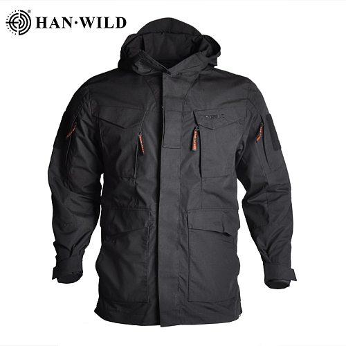 Military Tactical Jacket Hooded Waterproof Wear-resistant Camping Jacket Army Fleece Clothing Multicam Camouflage Windbreakers