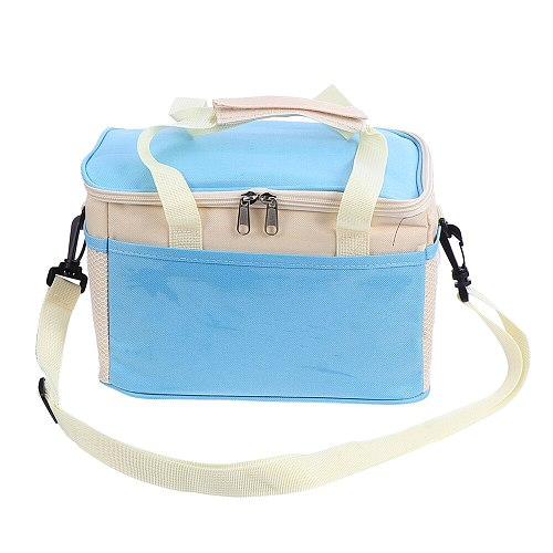 Outdoor Insulated Lunch Bag Portable Cool Bag Reusable Oxford Cloth Cooler