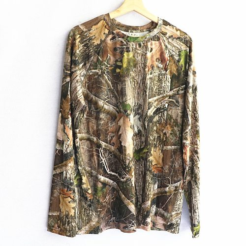 2020 Men Hunting T Shirt Camouflage Shirts Men's Long Sleeve Performance T-Shirt Lightweight Breathable Quick Dry USA Size S-3XL