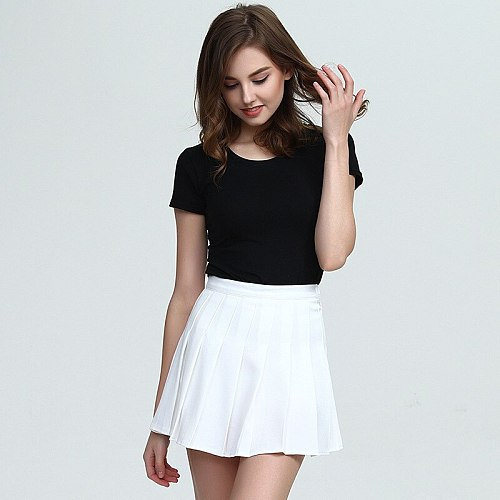Summer Pleated Skirt Girl High Waist Mini Short Dress with Inner Shorts for Women Sport Tennis Badminton Cheerleader Dance Team
