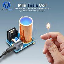 BD243 Mini Tesla Coil Kit Magic Props DIY Parts Empty Lights Technology Diy Electronics BD243C DIY Mini Tesla Coil Module