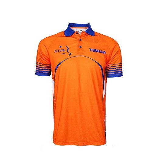 Original TIBHAR France Netherlands national Table Tennis Jerseys  for Men Women Ping Pong clothing Sportswear T-Shirts