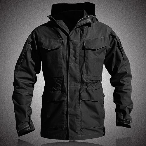 M65 UK US Army Clothes Hunter Tactical Windbreaker Men Winter Autumn Waterproof Flight Pilot Coat Hoodie Military Field Jacket