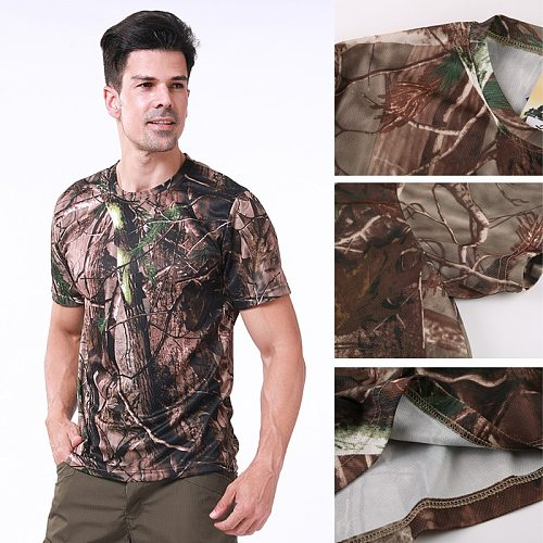 2020 Quick Drying Tactical Shirt Hunting Camo Paintball Shirts Tee Tops Camouflage Army Military Loose T Shirt Camping clothing