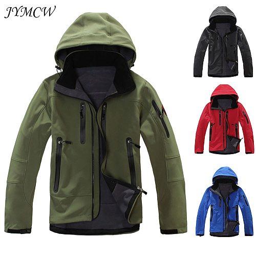 Shark skin tactical military training soft shell jacket suit men's waterproof combat fleece jacket windproof warm jacket