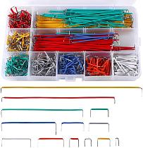 Jumper Wire Kit 840 Pcs Preformed Breadboard Jumper Wire Kit 14 Lengths Assorted Jumper Wire for Breadboard Prototyping Circuits