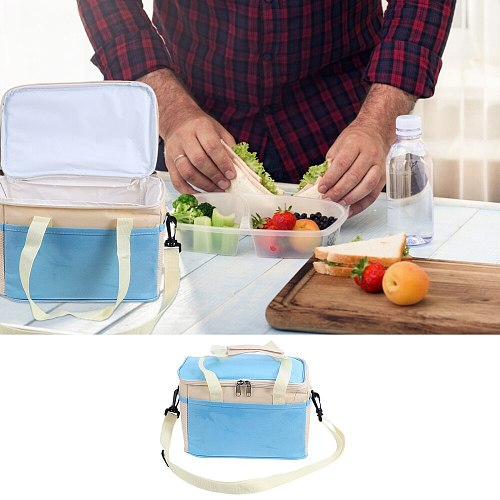 Heat Insulated Picnic Cooler Bag Portable Bag for Office School