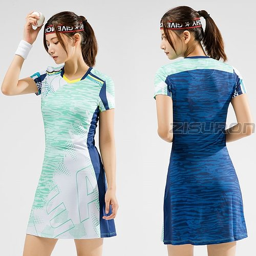 2021New Women Girls Sports Dress + Inner shorts Ladies Tennis Dresses With Shorts Badminton Dress Clothes Gym Running Sportswear