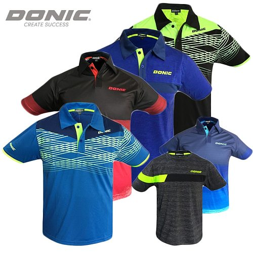 Original Donic Table Tennis Clothing Sport Jersey Men Women Sportswear Short Sleeved Ping Pong Clothes