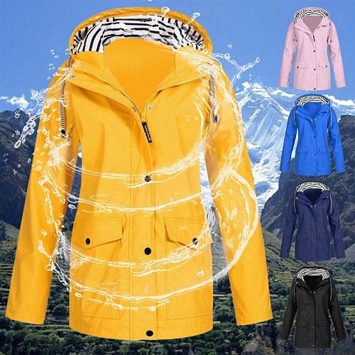 Women's Quick Dry Transition Jacket Long sleeve hooded Autumn Winter Rain Coat Hiking Jacket Outdoor Sport Windproof Jacket Coat