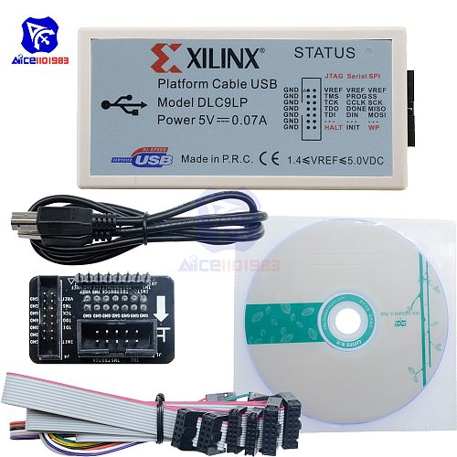 diymore XILINX Platform Cable USB FPGA CPLD JTAG SPI Download Debugger Programmer with USB Type-B Cable