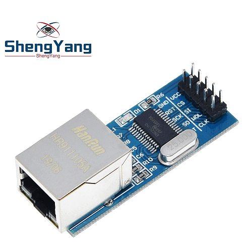 ShengYang Mini ENC28J60 Ethernet LAN Network Module For Arduino 51 AVR SPI PIC STM32 LPC Wholesale