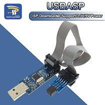LC-01 1Set 10Pin To 6 Pin Adapter Board+ USBASP USBISP AVR Programmer USB ATMEGA8 ATMEGA128 ATtiny/CAN/PWM 10Pin Wire Module DIY