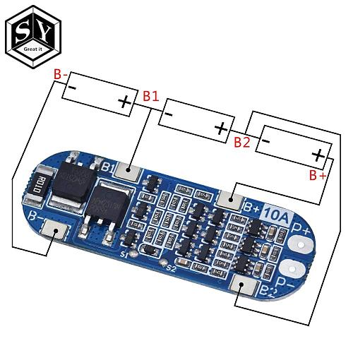 1PCS Great IT 3S 13A Li-ion Lithium Battery 18650 Charger Protection Board 11.1V 12.6V