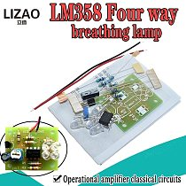 LM358 LED Breathing Light Kit Electronic Production Suite Electronic Kits DIY Parts Breath Light DIY Kit PCB laboratory