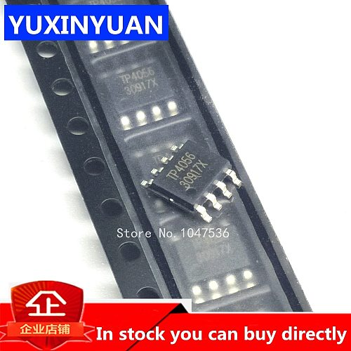 10pcs/lot TP4056 SMD 1A 4056 Linear Li-Ion battery charger IC / lithium charge management IC SOP8 100% good  TP4056E