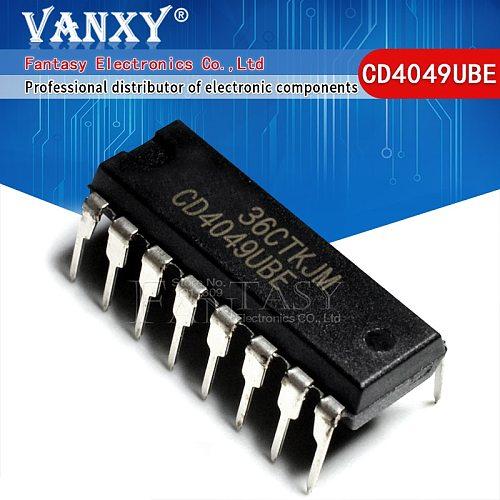 10PCS CD4049UBE DIP16 CD4049 DIP CD4049BE DIP-16 new and  original IC