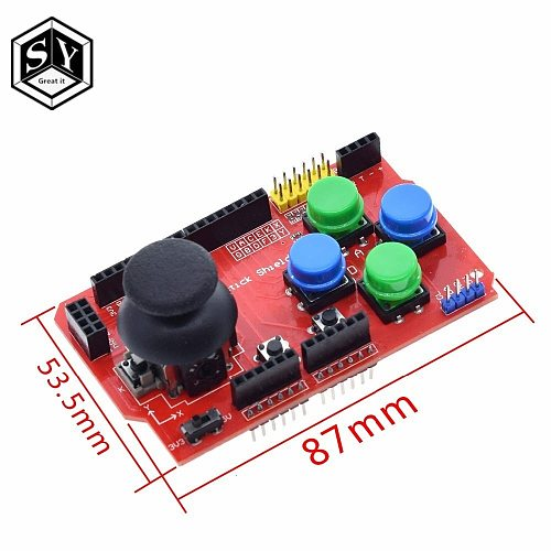 1PCS Great IT Joystick Shield for Arduino Expansion Board Analog Keyboard and Mouse Function