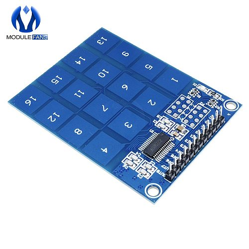 16 Key Way Channel TTP229 Capactive Touch Switch Digital Sensor IC Module Plate Board For Arduino Low Power Indicator 2.4V 5.5V