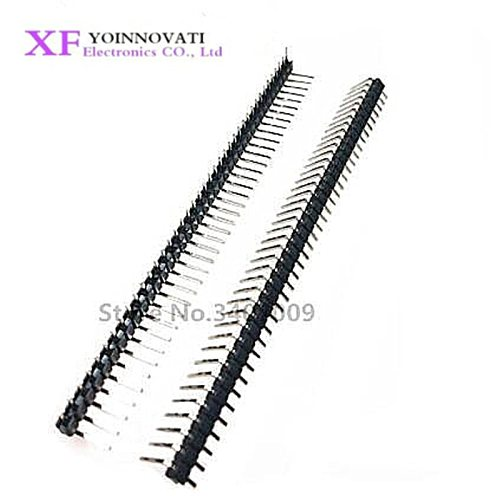 10pcs 1x 40 Pin 2.54 mm Right Angle Single Row Pin Header Male 90 degrees Needle Connector