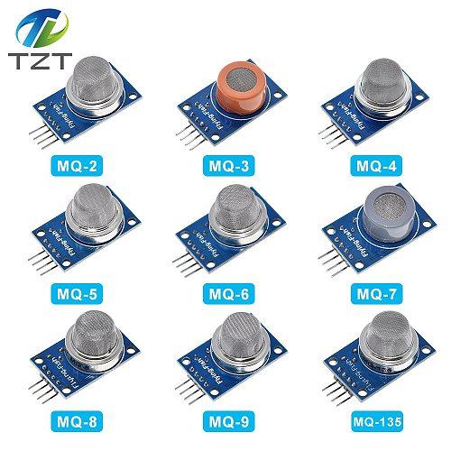 TZT 9 PCS/1 Lot Gas Detection Sensor Module MQ-2 MQ-3 MQ-4 MQ-5 MQ-6 MQ-7 MQ-8 MQ-9 MQ-135 Sensor Module Gas Sensor Starter Kit
