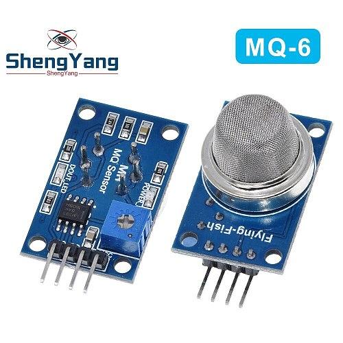 ShengYang 1PCS MQ-6 LPG Gas Sensor Module Liquefied Propane Iso-butane Butane Combustible Gas Detection Sensor MQ6