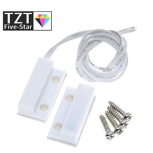 TZT  MC-38 MC38 Wired Door Window Sensor 30mm Wire Lengthen Randomly Magnetic Switch Home Alarm System for arduino