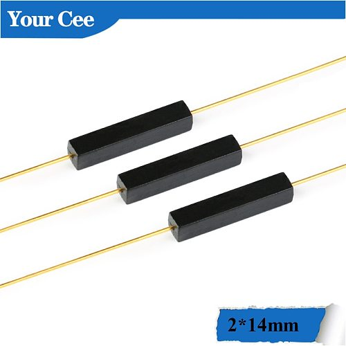 10Pcs Plastic Type 2*14mm Reed Switch Normally Open Magnetic Control Switch GPS-14A Anti-Vibration/Damage Contact For Sensor NO