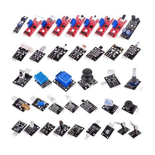 For Arduino 45 in 1 Sensor Module Assortment Starter Kit 37in1 Temperature Sensor Set 37 in 1 For UNO MEGA2560 Ultrasonic Sensor