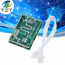 TZT Strong Anti-jamming! 5.8GHZ Microwave Radar Sensor 6-9M Smart Trigger Switch Module 3.3-20V DC for Home Control