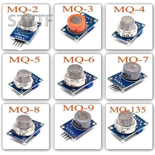 9PCS/Lot Gas Detection Sensor Module MQ-2 MQ-3 MQ-4 MQ-5 MQ-6 MQ-7 MQ-8 MQ-9 MQ-135 Sensor Module Gas Sensor Starter Kit
