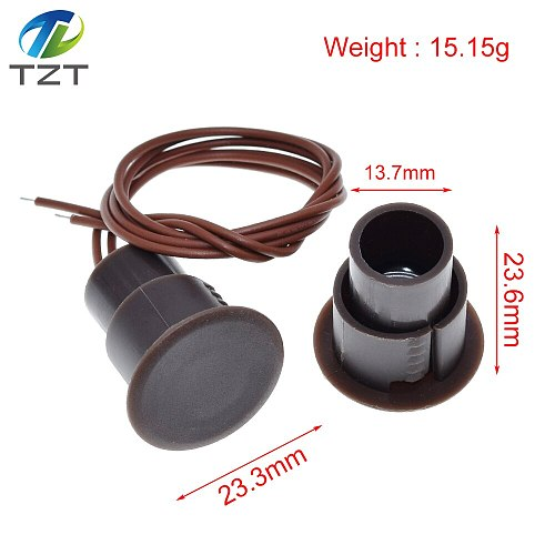 TZT RC-36 Wired Door Magnetic Switch Alarm Sensor Magnet Alarm Detector For Iron Gate Home Security Alarm System NC for Arduino