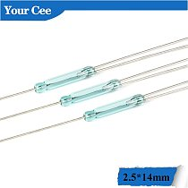 10Pcs Reed Switch 3pin Magnetic Switch 2.5*14mm Normally Open Normally Closed Glass NO NC Contact Conversion for Sensors