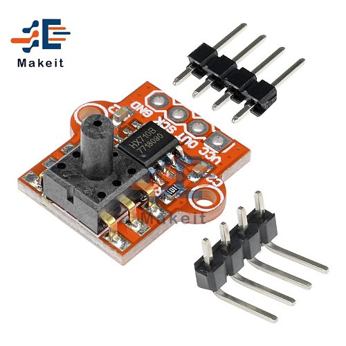 3.3-5V 0-40KPa Digital Barometric Pressure Sensor Module Connect 2.5mm Soft Tube Liquid Water Level Controller Board For Arduino