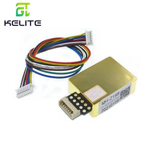 5PCS/LOT MH-Z19 infrared co2 sensor for co2 monitor carbon dioxide sensor MH-Z19 co2 module serial output calibrated sensor
