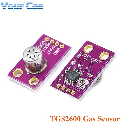TGS2600 Air Quality Gas Sensor Module  Detecting Hydrogen Carbon Monoxide CO Air Contaminants Analog and Digital Output