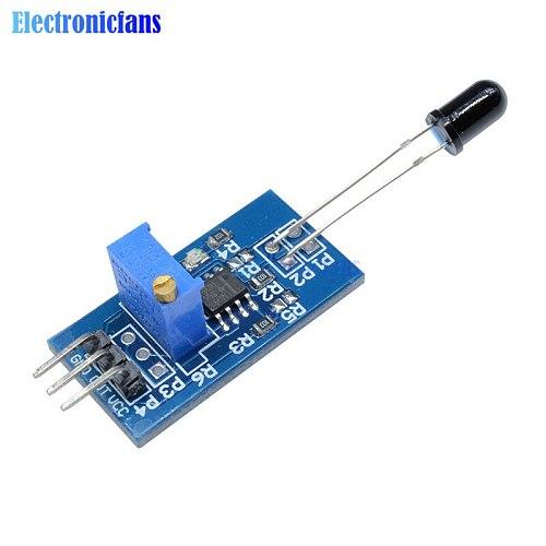 Flame Sensor Module Wavelength 760nm-1100nm LM393 IR Flame Temp Sensor Board For DIY