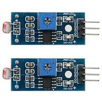 2Pcs Light Intensity Photosensitive Sensor Resistor Module 3.3-5V Photosensitive Sensor for Arduino