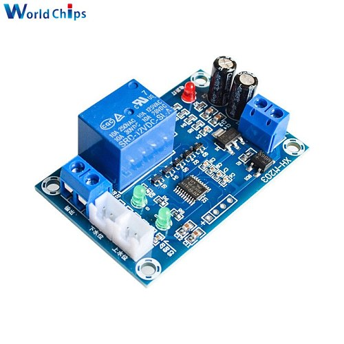 XH-M203 Full Automatic Water Level Controller Pump Switch Module AC/DC 12V Relay Sensors Module Water Level Switch