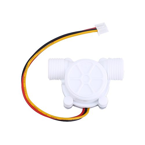 Water Flow Hall Sensor Switch Flowmeter Hall Sensor Counter 0.8MPa 10L/min DC 5V 12V 3/8inch G3/8