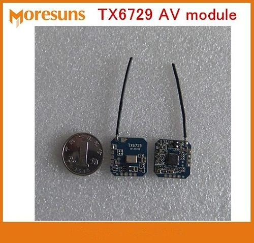 Free Ship 2.4G Small low power wireless audio and video transmission module launch module TX6729 AV transmitter module