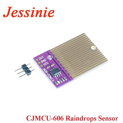 Raindrops Sensor Raindrops Detection Rain Weather Humidity Module 3.3V-5V CJMCU-606 For Arduino