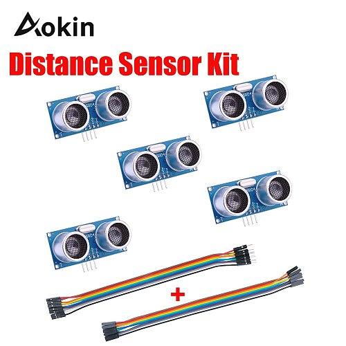 HC-SR04 Ultrasonic Module Distance Sensor with 40Pin 20cm Dupont line for Arduino UNO MEGA2560 Nano Robot XBee ZigBee diy kit