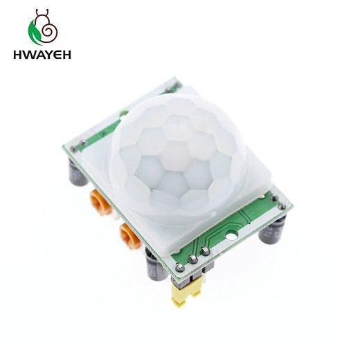5PCS SR501 HC-SR501 Adjust IR Pyroelectric Infrared PIR module Motion Sensor Detector Module for arduino