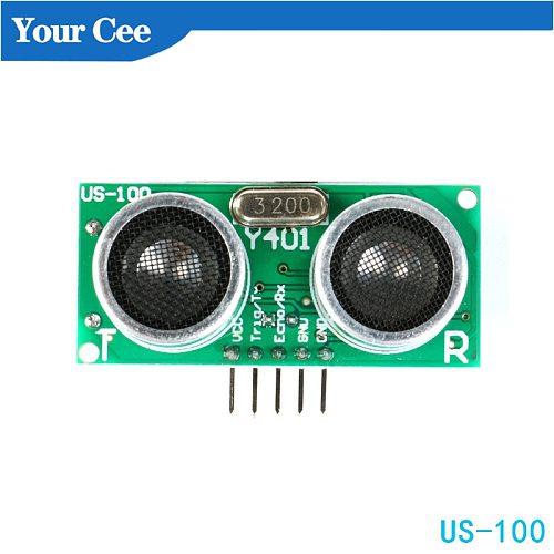 US-100 2.4V to 5V  Ultrasonic Sensor Module DIY DC With Temperature Compensation Module Range Up to 450cm USB TTL for Arduino